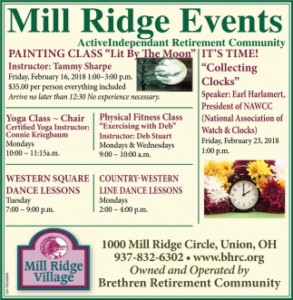 Mill Ridge Events